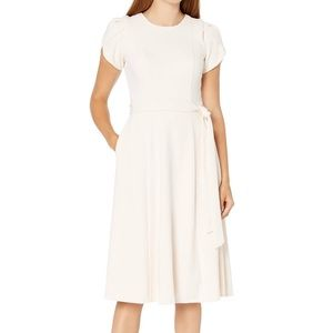 Calvin Klein Tulip Sleeve Fit & Flare Dress